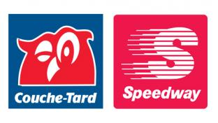 Logos for Alimentation Couche-Tard and Speedway