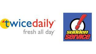 Twice Daily & Sudden Service logos