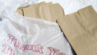 paper and plastic bags