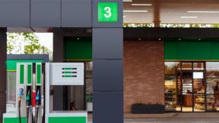 a convenience store gas pump