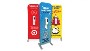 Custom Graphic Hand Sanitizer Dispenser Stand