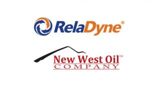 Logos for RelaDyne and New West Oil Co.