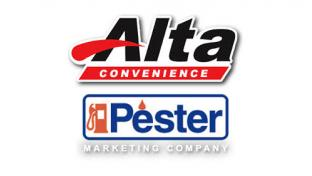 Logos for Alta Convenience & Pester Marketing