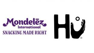 Logos for Mondelēz International and Hu Products