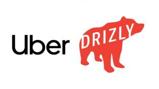 Logos for Uber and Drizly