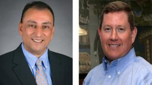 Love's promoted Roger Ahuja, left, and Gary Price.