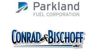 Logos for Parkland and Conrad & Bischoff Inc.