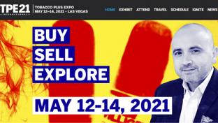 Tobacco Plus Expo 2021 website homepage