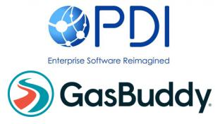 Logos for PDI and GasBuddy