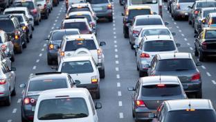 Heavy road traffic