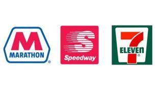 Marathon, Speedway & 7-Eleven logos