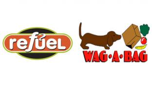 Logos for Refuel and Wag-A-Bag