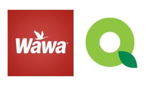 Logos for Wawa and QuickChek