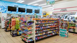 Inside a TravelCenters of America store