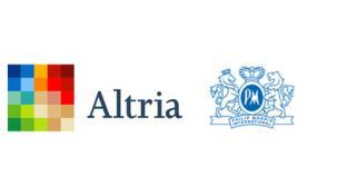 Logos for Philip Morris International & Altria
