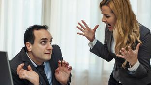 angry female boss